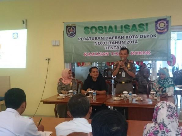 Kasatapol PP Kota Depok Dudi Mi'raz berharap pegawai Pemkot Depok jadi contoh bagi masyarakat.