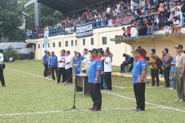 Walikota Depok membuka Liga Pelajar Indonesia (LPI) Kota Depok.