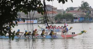 Festival Perahu Naga salah satu kegiatan yang dilaksanakan di situ-situ di Kota Depok.