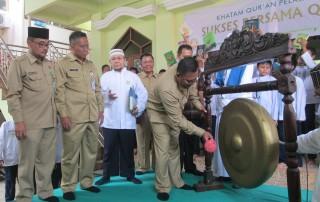 Wakil Walikota Depok Pradi Supriatna meresmikan gerakan khatam Alquran di SMPN 2 Kota Depok.