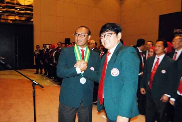 Ketua IDI Jabar melantik dr. Sukwanto Gamalyono sebagai Ketua IDI Cabang Depok.