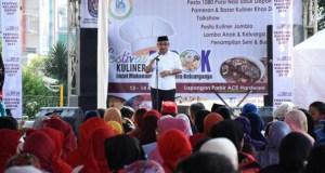 Walikota Depok Mohammad Idris membuka Festival Kuliner di Depok.