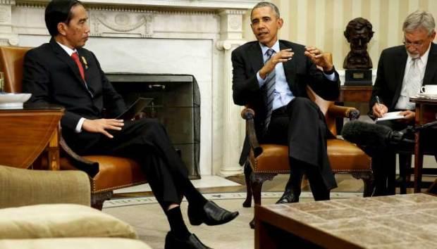 Presiden Jokowi ketika bertemu denga Obama. (reuter)