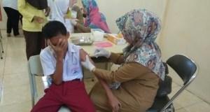 Pemberian imunisasi MR di Kota Depok sudah mencapai target nasional.