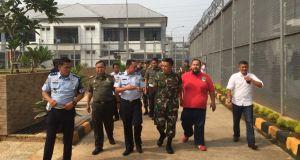 Komandan Kodim 0508/Depok Letkol Inf Iskandarmanto meninjau Rutan Cilodong