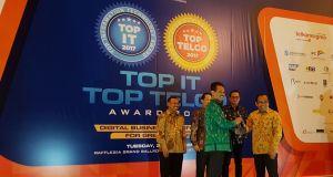 Kementerin Pertanian berhasil meraih dua penghargaan di bidang IT. Kepala Pusat Data Kementan, Suwandi menerima penghargaan dari Pimpred Mahalah Hitech.