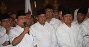Ketua Umum Partai Gerindra mengumumkan nama Sudrajat sebagai Calon Gubernur Jawa Barat.