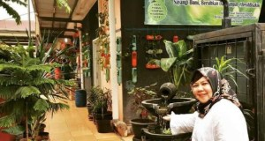 UPT Pasar Sukatani berbenah agar pasar tradisional itu tampak asri sehingga membuat nyaman masyarakat yang berbelanja.