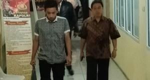 Mantan Walikota Depok Nur Mahmudi Ismail di Mapolresta Depok.