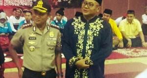 Wakil Walikota Depok Pradi Supriatna bersama Kapolresta Depok, Kombes Didik Sugiarto ketika menghadiri acara Pemuda Pancasila.