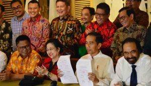 Jokowi akhirnya memilih Ma'ruf Amin sebagai cawapresnya.