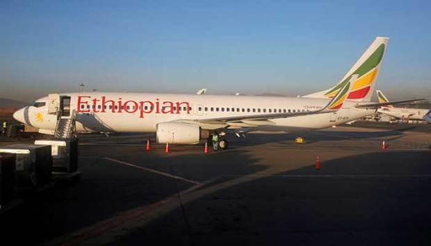 Pesawat Ethoiphia yang mengalami kecelakaan.