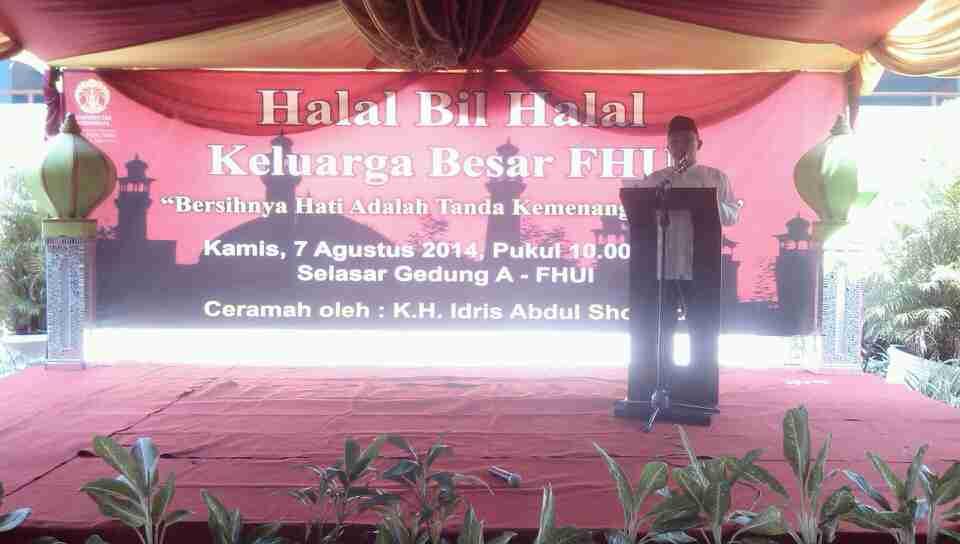 Keluarga Besar Fh Ui Adakan Halal Bi Halal Depoktren Com
