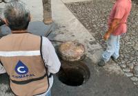 Brinda COMAPAL mantenimiento a redes de drenaje de Armería