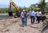 Supervisa Elías Lozano trabajos de la obra de rehabilitación de la ptar de la juntá municipal nuevo Caxitlan