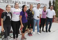 Trabajadoras de las áreas de seguridad participan en la carrera mujer policía 2020