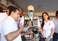 Verifica Gobernador operación de filtros sanitarios en Tecomán