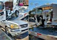 Chófer de mototaxi resulta lesionado tras fuerte percance vial en Tecomán