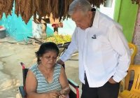 AMLO: pide mujer al Presidente recibir apoyo del bienestar