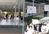 Continúan las manifestaciones por acoso sexual en la secundaria Enrique Corona Morfín en Colima