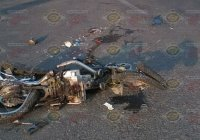 Grave motociclista arrastrado por un tráiler, en accidente en el Libramiento FMP de Tecomán