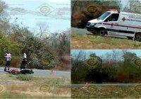 Joven motociclista pierde la vida en accidente cerca del Crucero a Calera, en Tecomán