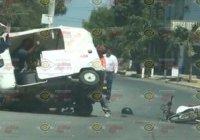 Se registra percance entre Mototaxi y motocicleta en la colonia Palma Real, En Tecomán