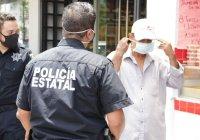 Policía Estatal pide a la gente usar cubrebocas y cumplir medidas sanitarias