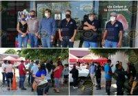 Choferes de mototaxi toman las instalaciones de la Secretaría de Movilidad en Colima