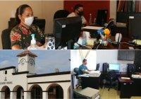 Sin descuidar medidas de sanidad por COVID-19 trabajadores del gobierno municipal ixtlahuacan se reincorporan a sus actividades