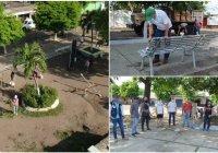 Comunidad de Piscila y Virgilio rehabilitan jardín