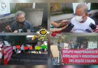 Se manifiestan pensionados y jubilados del ISSSTE en Colima; exigen abasto de medicinas