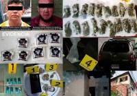 Contra el Narcomenudeo FGE detiene a dos y decomisa narcóticos