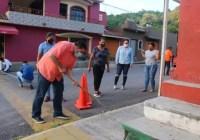Inician el presidente, síndico y regidores, mejoramiento de líneas peatonales en Ixtlahuacán