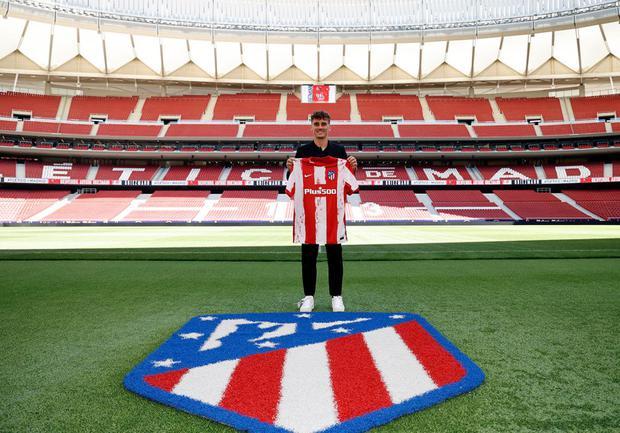 Griezmann fue presentado en el Atlético de Madrid. (@Atleti)