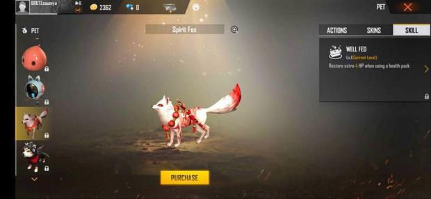 Spirit Fox   Mascota de Free Fire