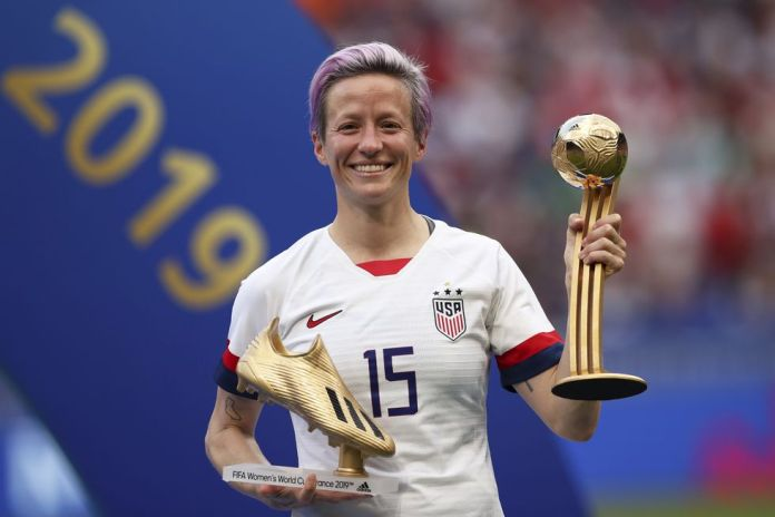 Rapinoe plays in OL Reign, u.s. club that is part of the family of the Olympique of Lyon. (AFP)