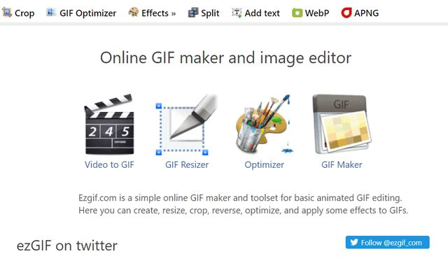 On this website you must upload your GIF with the new measurement. (Photo: Capture)