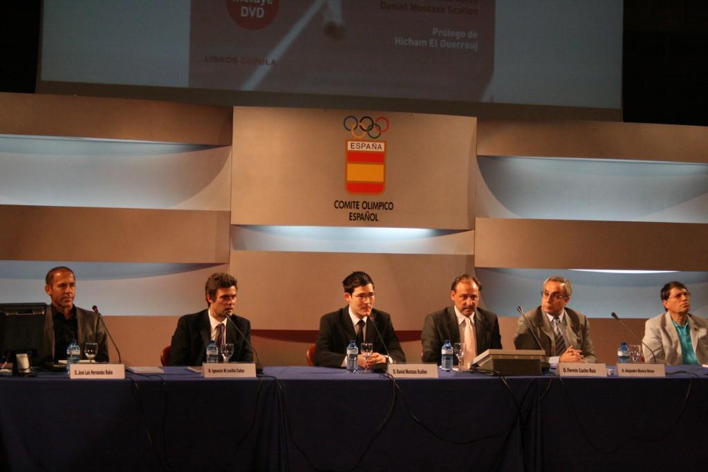 La presentación oficial del libro ha tenido lugar en la sede del Comité Olímpico Español.