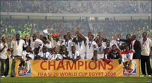 Tras ser campeona del mundo sub 20 en 2009, Ghana presenta la selección más joven del mundial.