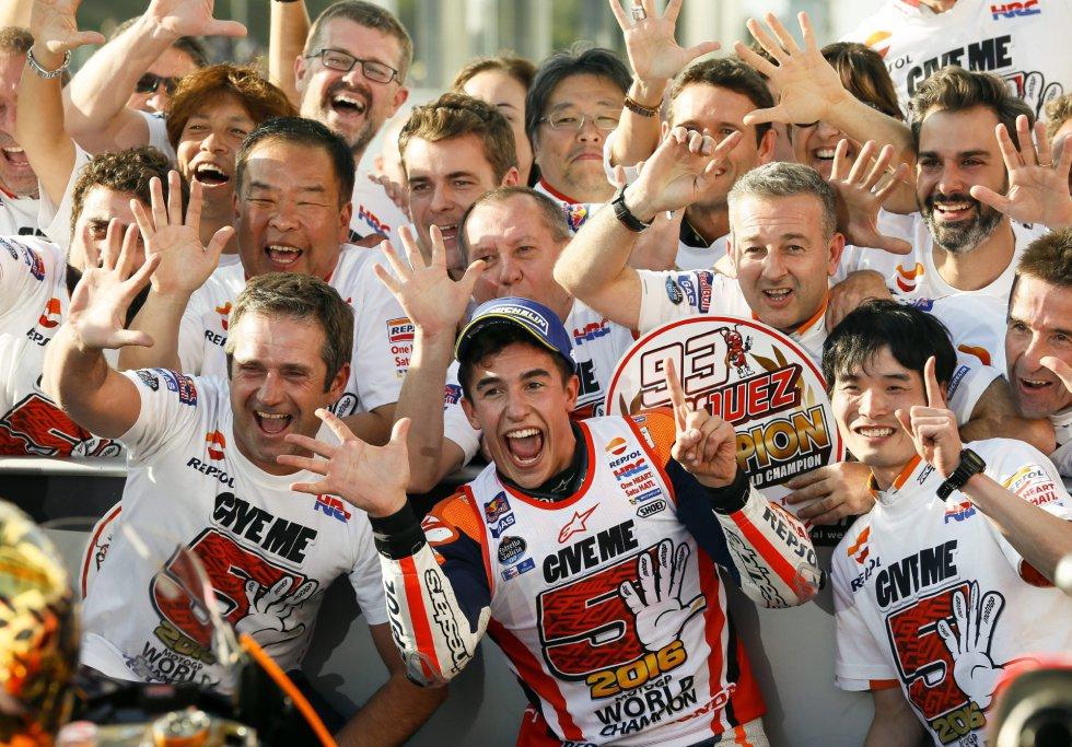 Marc Márquez intentará en 2017 conseguir su cuarto título de Moto GP.