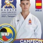 El Langreano Alejandro Catalán Campeón de Europa Junior en Kata