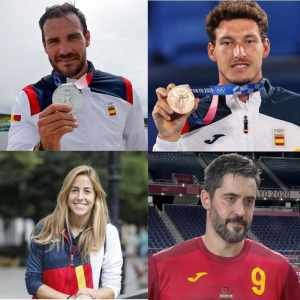 medallistas asturianos en Tokyo 2020 Craviotto Entrerríos, Carreño y María López