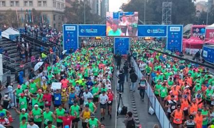 Cuatro competidores chilenos triunfaron en el Maratón de Santiago 2015