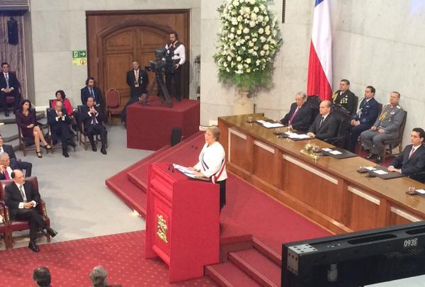 Cuenta Pública 2015: Presidenta Michelle Bachelet comprometió remodelación y construcción de cuatro recintos deportivos