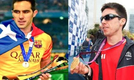 Claudio Bravo y Cristián Valenzuela fueron elegidos por la prensa como los mejores deportistas del año