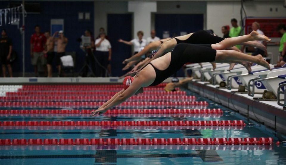 Posición para salidas en natación
