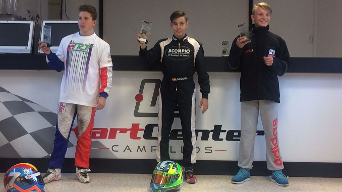 Grande vencedor del Campeonato de Andalucía de Karting