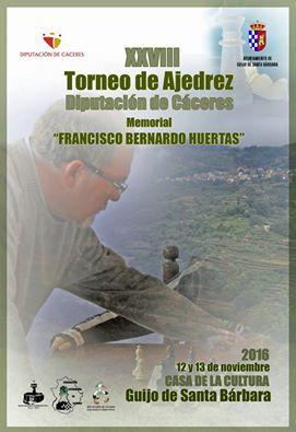 XXVIII edición, Torneo Internacional de Ajedrez Diputación de Cáceres