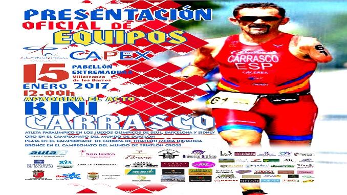 El CAPEX se presenta el próximo domingo con Kini Carrasco, actual premio del deporte en Extremadura, como padrino